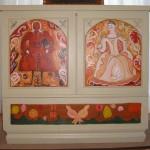 Coffre à trousseau Bois peint 36 x 33.5 po