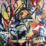 En attendant Godot Acrylique sur panneau 24 x 30 po