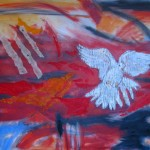 Flight of the Dove II Techniques mixtes 48 x 36 po