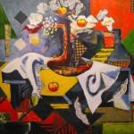 Hommage à Cézanne Techniques mixtes 36 x 30 po