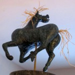 Horse from Guernica II Winterstone & granit 20 x 16 x 10 po
