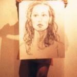 Jeune fille et son portrait a
