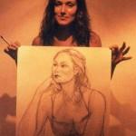 Jeune fille et son portrait b