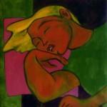 Katya Sleeping Acrylique 20 x 20 po