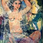 L'Egyptienne Acrylique et Collage 24 x 30 po