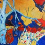 Paysage d'automne Acrylique 18 x 24 po