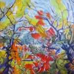 The Pond Acrylique & Collage 36 x 30 po