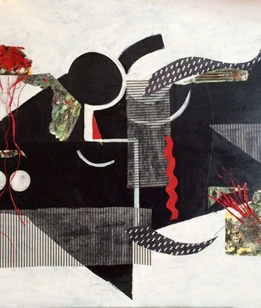 Exploration 6 - Acrylic and collage 3 X 4 foot