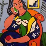 Seated Woman with Apple - Acrylique 30 X 24 po © Gouvernement du Canada