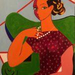Femme au Collier - Acrylique 30 X 24 po © Gouvernement du Canada